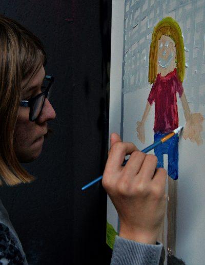 Dummies kunstworkshop van Stichting Zo Mooi Mogelijk - klassiek schilderen